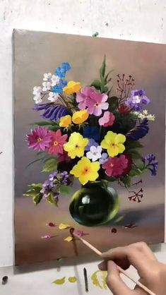 Easy Flower Painting, Oil Painting Flowers, Flower Art, Diy Canvas Art, Acrylic Painting Canvas, Flower Drawing Tutorials, Art Painting Gallery, Watercolor Painting Techniques, Classic Photography