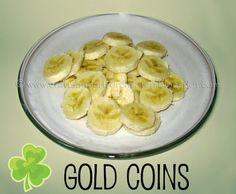 Banana Gold Coins for St Patrick's Day