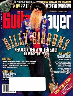 Guitar Player Magazine February 2016 - Billy Gibbons Cover, New Album, New Style