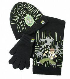 Kids STAR WARS Black Logo Beanie Hat /& Magic Gloves Set 4-8 Years Black