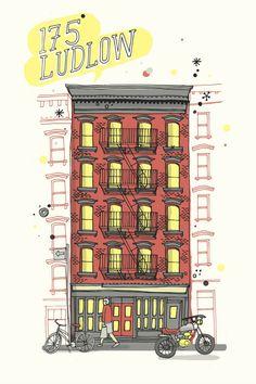 All the Buildings in New York, blog by illustrator James Gulliver Hancock