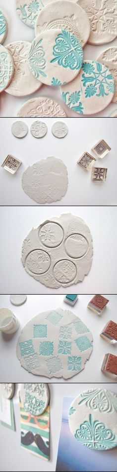 Here's another diy for you, this time stamped clay magnets. You can never have too many of these, right? There always seems to be something…