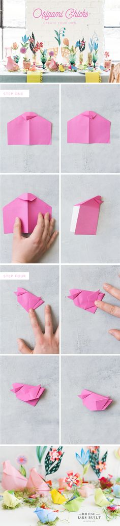 How to make an origami chick