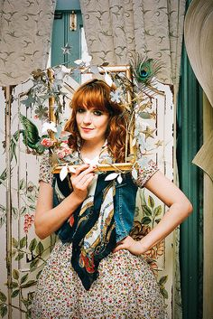 Florence & the Machine. She would be # 2 on my hero's list right below Gwen Stefani. Her music is amazing and her style is so inspirational.