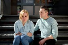 FROM ITV STRICT EMBARGO - No Use Before Sunday 22 May 2016 Coronation Street - Ep 8918 Friday 3 June 2016 - 1st Ep Todd Grimshaw [BRUNO LANGLEY] implores Sarah Platt [TINA OÕBRIEN] to confide in him and is baffled when Sarah lets slip that she saw CallumÕs dead body. Todd humours Sarah and promises to keep her confidence and asks who killed him. ToddÕs eyes widen in shock as Sarah whispers her reply in his ear. Picture contact: david.crook@itv.com on 0161 952 6214 Photographer - Mark Bruce…