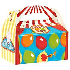 Birthday Express 258256 Carnival Games Empty Favor Boxes >>> For more information, visit image link. (This is an affiliate link) #PartySupplies