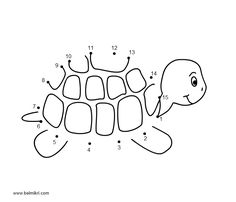 Connect the Dots Coloring Page for Kids - Connect the dots (also known as dot to dot or be a part of the dots) is a form of puzzle containing a sequence of numbered dots. When a line is drawn . Turtle Book, Dot To Dot Printables, World Turtle Day, Turtle Crafts, Numbers For Kids, Animal Crafts For Kids, Connect The Dots, School Themes, Coloring Pages For Kids