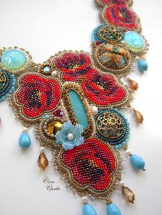 Beadwork beyond spectacular. Each detail is intricately connected, with all aspects imaginable, resulting in Beadwork beyond descriptions. Each piece is always a must have.