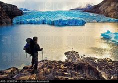 Grey Glacier  Grey lake  Torres del Paine National Park  UNESCO World Biosphere Reserve, Patagonia, Chile, South America. ©  Gonzalo Azumendi / age fotostock - Stock Photos, Videos and Vectors