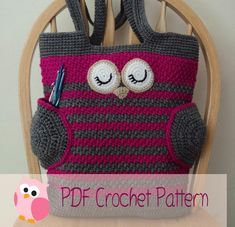Looking for your next project? You're going to love Owl Tote Bag by designer Karla Sandoval.