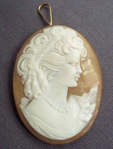 Victorian Hand Carves Shell Cameo