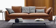 Sofa Richard -B&B Italia - Design of Antonio Citterio Sofa Design, Canapé Design, Interior Design, Sofa Furniture, Modern Furniture, Luxury Furniture, Antik Sofa, Sofas, B&b Italia