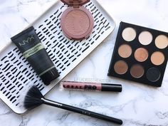Current Beauty Favorite! NYX Photo Ready Primer | Tarte Amazonian Clay Blush | Studio Makeup On The Go Palette | Lorac Pro Liquid Lipstick | MUA Fan Brush