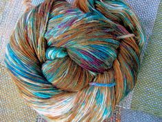 Hot Mocha Java and a Turquoise Sky Colorway Sock Yarn