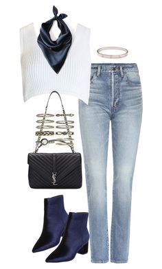 """""""Untitled #1831"""" by breannaflorence on Polyvore featuring Yves Saint Laurent, Steven by Steve Madden, Sans Souci, Cushnie Et Ochs and Cartier"""