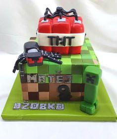 Minecraft birthday cake by Kaliss