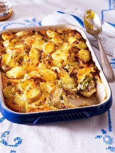 Soulfood deluxe: Kartoffeln, Lauch und Speck - eingebettet in eine wohlig-warme Käse-Creme. Unser Kartoffelgratin - der Klassiker für die ganze Familie.