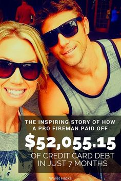 Chris Peach and his wife paid off $52,055.15 in Credit Card Debt in Just 7 Months - learn his exact strategy on how to get rid of debt, his psychological tricks to keep on track, be inspired, and get the printables you can use to get out of any kind of debt.