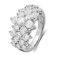 2.00 CT. T.W. Round-Cut Diamond Firework Engagement Ring in 14K White Gold (I, I1) - Sam's Club - $1799