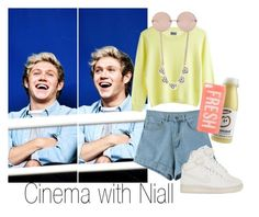 """""""Cinema with Niall"""" by vitalinav ❤ liked on Polyvore featuring MTWTFSS Weekday, NIKE, DailyLook, Linda Farrow, women's clothing, women, female, woman, misses and juniors"""