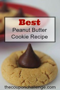 Are you looking for the Best Peanut Butter Cookie Recipe?  Give this recipe a try and make it even more delicious with Hershey Kisses!