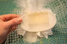 How to make a birdcage veil...it is very easy. Good thing to DIY, veils are very expensive and my mom said materials for this would cost probably under 75 bucks vs. 200 for a store bought one.