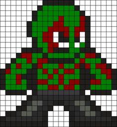 Drax Perler Bead Pattern / Bead Sprite