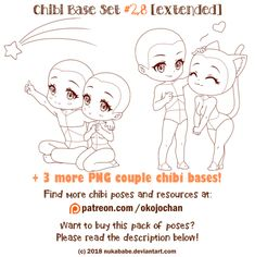 Chibi Couple Base (Extended Chibi Base Set by Nukababe