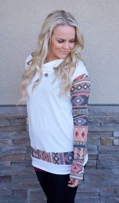 KISSmeMINT Aztec Cowl Neck Button Tunics - 4 Styles! {Jane Deals}