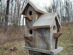 Pallet Birdhouse Idea