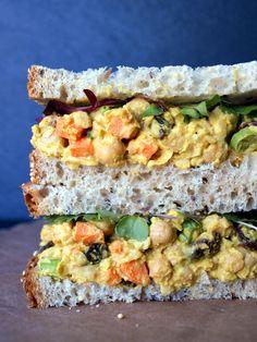 Vegan Curried Chickpea Salad Sandwich