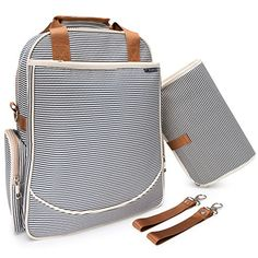 Obeanie Baby Backpack Diaper Bag  Designer Fashion  Unisex Nautical Navy  Cream Stripe -- Click image to review more details.Note:It is affiliate link to Amazon.