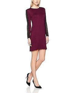 12, Red (Wine), Dorothy Perkins Women's Lace Swing Dress NEW