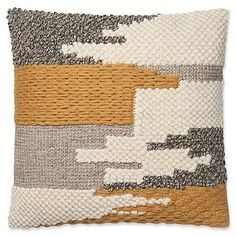 Elevate your bed, sofa or favorite chair with a modern look with the Magnolia Home Manuel Square Throw Pillow. This super soft pillow features a contemporary color block design which will create a colorful statement and extra style to any room. Soft Pillows, Bed Pillows, Bed Sofa, Cushions, Casas Magnolia, Moroccan Floor Pillows, Design Loft, Punch Needle Patterns, Weaving