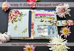 Free Wallet Patterns | Pixie Patterns and Sewing: {Made} The Keep It Simple Passport Wallet ...