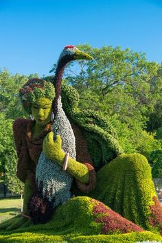 Unübertroffene Idee für euren Garten! Living Sculptures at the Montreal Botanical Garden. Quelle: 1001gardens.org