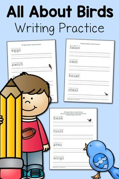 All About Birds Writing Practice - Mamas Learning Corner