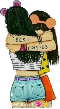 bff drawings easy step by step . bff drawings black and white Best Friend Sketches, Friends Sketch, Drawings Of Friends, Drawing Of Best Friends, Cute Best Friend Drawings, Best Friends Cartoon, Friend Cartoon, Girl Drawing Sketches, Cute Girl Drawing