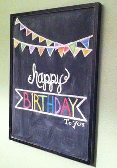 Happy Birthday chalkboard!