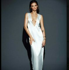 Picture of Antonia Iacobescu White Dress, Satin, Formal Dresses, Pictures, Color, Inspiration, Beautiful, Jewels, Fashion