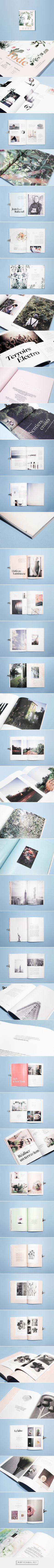 l'ode magazine - diptyque by Julie Ferrieux. Great editorial design!