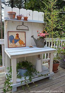 potting benches unite :: FunkyJunk Interiors - Donnas clipboard on Hometalk :: Hometalk