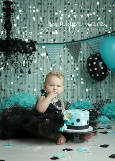 Black and teal birthday