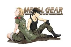 David and Eli~ Solid Snake Liquid Snake Snake Metal Gear, Metal Gear Games, Video Game Art, Video Games, Revolver Ocelot, Metal Gear Solid Series, Mgs V, Kojima Productions, The Fox And The Hound