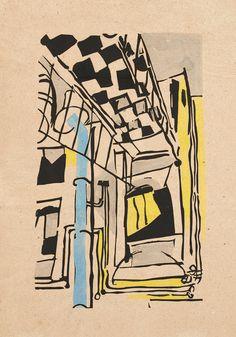 Jean Pougny (Иван Альбертович Пуни) bois gravé en couleurs