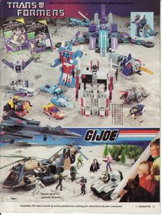1986 Canadian Tire flyer mini catalogue catalog Toys peek preview before Christmas. GiJoe and Transformers