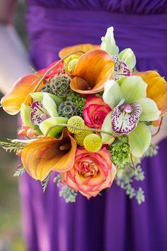 photo by jenny moloney photography, jennymoloney.com. flowers by jeff french #orchids #callalilies