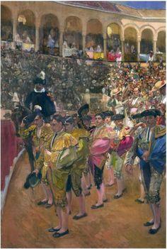 Seville, the Bullfighters (Joaquin Sorolla y Bastida - ) Spanish Painters, Spanish Artists, Valence, Art Database, Seville, Great Artists, Art History, Madrid, Art Gallery