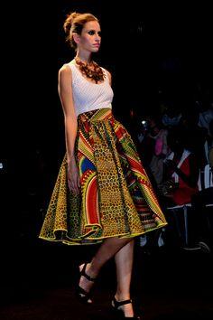 Elegant African print skirt ~Latest African Fashion, African Prints, African fashion styles, African clothing, Nigerian style, Ghanaian fashion, African women dresses, African Bags, African shoes, Kitenge, Gele, Nigerian fashion, Ankara, Aso okè, Kenté, brocade. ~DK