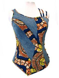 Créations mode textiles By Gabrièles Fashion Art par FashionArtGabrieles African Fashion Ankara, African Inspired Fashion, African Print Dresses, African Print Fashion, African Dress, Fashion Prints, African Blouses, African Tops, African Women